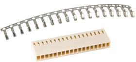 HU-18 (DS1070-18 F), Розетка на кабель c контактами 2.54мм (OBSOLETE)