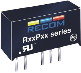 R05P15S, DC/DC CONVERTER ISOLATED 15V 66MA 1W