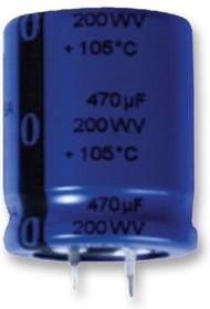 Фото 1/2 SLP222M063C3P3, Cap Aluminum Lytic 2200uF 63V 20% (25 X 30mm) Snap-In 10mm 0.181 Ohm 2000mA 3000h 105°C