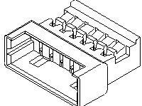 0510470200, Conn Housing M 2 POS 1.25mm Crimp ST Cable Mount Natural PicoBlade™ Bag