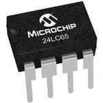 Фото 3/4 24LC65/P, EEPROM, Smart Serial™, 64 Кбит, 8К x 8бит, Serial I2C (2-Wire), 400 кГц, DIP, 8 вывод(-ов)