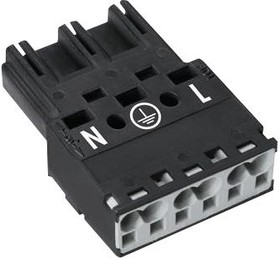 770-213, Conn Terminal Block F 3 POS 10mm Spring Clamp RA Cable Mount 25A Box