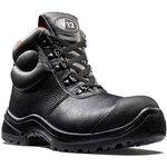 V6863.01/10, Rhino Black Composite Toe Safety Shoes, UK 10
