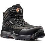 V1501.01/10, Caiman Black Composite Toe Safety Shoes, UK 10