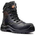 V1750/08, Defender Black Composite Toe Safety Shoes, UK 8