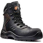 V1750/09, Defender Black Composite Toe Safety Shoes, UK 9