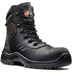 V1750/11, Defender Black Composite Toe Safety Shoes, UK 11