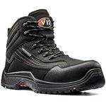 V1501.01/12, Caiman Black Composite Toe Safety Shoes, UK 12