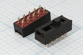 Фото 1/2 Движковый переключатель на четыре положения, 2P4T, 9908 ПДв 37,2x14h15,2\10C\8А220В\ 2P4T\пласт\SSD-2413\