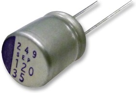 16SEPC100M+TSS, Конденсатор, 100 мкФ, 16 В, Радиальные Выводы, OS-CON SEPC Series, 0.024 Ом, 5000 часов при 105°C