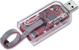 Фото 1/2 KITMINIWIGGLER3USBTOBO1, Отладчик, DAP miniWiggler V3, для микроконтроллерами серий Aurix/XMC/XC/XE, до 30МГц