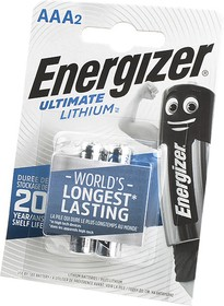 Energizer Ultimate LITHIUM FR03 BL2, Элемент питания