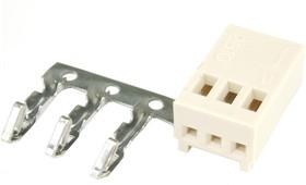 Фото 1/2 HU-3 (DS1070-3 F), Розетка на кабель c контактами 2.54мм