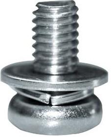 81.57.436, Крепежный винт, контргайка, M4, 8 мм, Steel 4.8, Цинк, Плоско-выпуклый Phillips