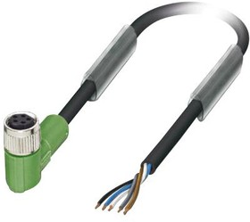 SAC-5P- 1,5-115/M 8FRB, Датчик Кабеля, 90° M8 Receptacle to Free End, 1.5 м, 4.92 фут