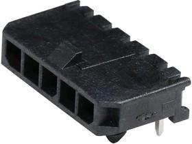 Фото 1/2 43650-0500, Разъем типа провод-плата, 3 мм, 5 контакт(-ов), Штыревой Разъем, Micro-Fit 3.0 43650 Series