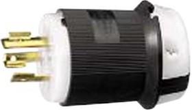 HBL2341, CONN, MAINS PLUG, 2P3W, 20A 480V, L8-20P, BLK/WHT