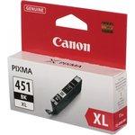 Картридж CANON CLI-451XLBK, черный [6472b001]