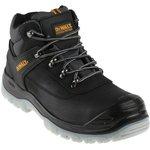 DWF 50031-122-9, Laser Black Steel Toe Men Safety Boots, UK 9, US 10