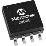 Фото 3/4 24C65/SM, EEPROM, Smart Serial™, 64 Кбит, 8К x 8бит, Serial I2C (2-Wire), 400 кГц, SOIJ, 8 вывод(-ов)