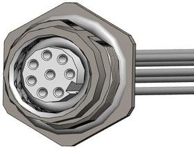 """FPM12A08I06AR03, M12 8 pos female brass/nickel rear PG9 6"""" pigtail 17AH5257"""