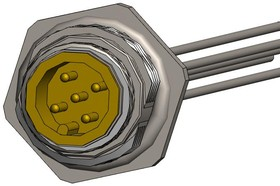 "MPM12A05I12CR01, M12 5 pos male brass/nickel rear M16 12"" pigtail 17AH5386"
