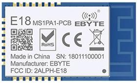 E18-MS1PA1-PCB, модуль ZigBee, CC2530, 2.4GHz, I/O, 0.8 км
