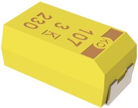 T543D106K050AHW090, Surface Mount Tantalum Capacitor, 10 мкФ, 50 В, Серия T543, 2917 [7343 Метрический], -55 °C