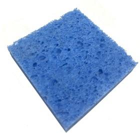 Губка для чистки жало 60 х 60 х 15 мм голубая