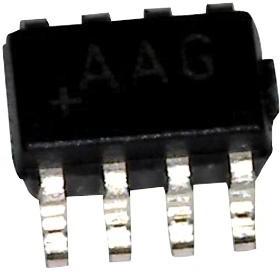MAX44263AXA+T, Операционный усилитель, I/O с полным размахом напряжения, 2 Усилителя, 15 МГц, 7 В/мкс