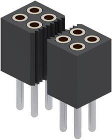 853-43-100-10-001000, Conn Socket Strip SKT 100 POS 1.27mm Solder ST Thru-Hole