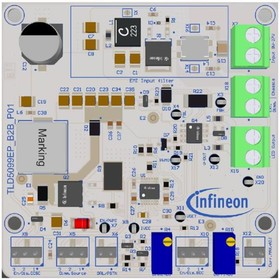 TLD5099EPB2BEVALKITTOBO1, Evaluation Kit, TLD5099EP B2B, Buck-Boost, PWM, 8 V to 27 V Input, 23 V Output, 1A, LED Driver