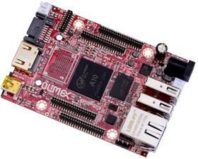 Фото 1/2 A10-OLinuXino-LIME-n8GB, Одноплатный компьютер на базе процессора Allwinner A10 Cortex-A8