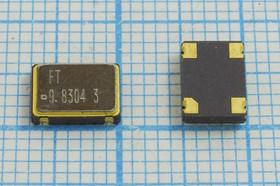 Кварцевый генератор 9.8304МГц 3.3В, HCMOS/TTL в корпусе SMD 7x5мм, гк 9830,4 \\SMD07050C4\T/CM\ 3,3В\FXO-SM7\FT