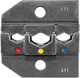 624 691 3 0, Штамп обжимного инструмента, 0.5мм² до 6мм², 20-10AWG изолированные клеммы