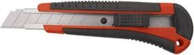 Фото 1/3 Нож технический Тренд, пластик. корпус с прорезин. вставками, усиленный метал. направляющей, 18 мм 10174