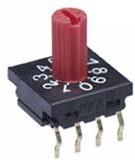 Фото 1/2 FR01KR10P-S, Switch DIP N.O./N.C. SP10T 10 Shaft 0.1A 5VDC PC Pins 1000Cycles Thru-Hole Tube