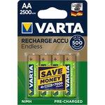 Аккумуляторы VARTA ENDLESS ENERGY AA 2500mAh бл. 4 (упаковка из 4)