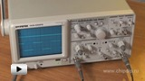 Watch video: GOS-620FG oscilloscope and generator