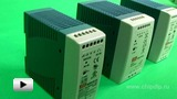 Watch video: Mean Well DIN Rail Power Supplies, MDR series