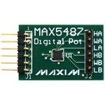 Фото 2/4 MAX5487PMB1#, Оценочная плата, цифровой потенциометр, 256 витков, двойной, линейный-конусный, 10кОм