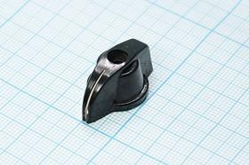 """Фото 1/3 Клювик с отверстием диаметром 4мм [ПГ3-ПГ39]; №15015 ручка """"V""""d4m2,5\27x16,5x12,5\ карб\чер\4.252\П2Г\"""