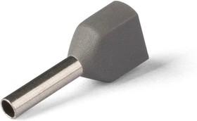 НШВИ(2) 0.75-8, Наконечник штыревой втулочный изолированный серый 2х0.75 мм кв. | купить в розницу и оптом