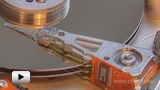 Watch video: The recording of data onto the hard disc