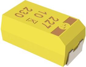 T498D106K035ATE700, Surface Mount Tantalum Capacitor, 10 мкФ, 35 В, Серия T498, ± 10%, 2917 [7343 Метрический]