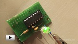 Watch video: Flashing LED Used as an Electric Pulse Generator