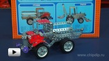 "Watch video: Metal Construction Set ""Truck and Tractor"""