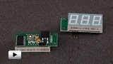 Смотреть видео: SVH0001R, цифровой встраиваемый вольтметр 0...99.9В, красный индикатор