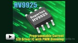 Watch video: HV9925 - Driver for Decorative LED Lighting Circuits