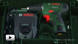Watch video: Compact two-speed drill driver with Lithium-ion battery